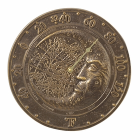 Whitehall Moon Thermometer - Copper Verdi