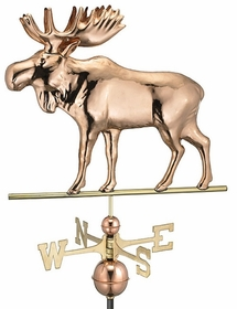Moose - Polished Weathervane