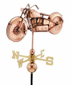 Motorcycle - Polished Weathervane