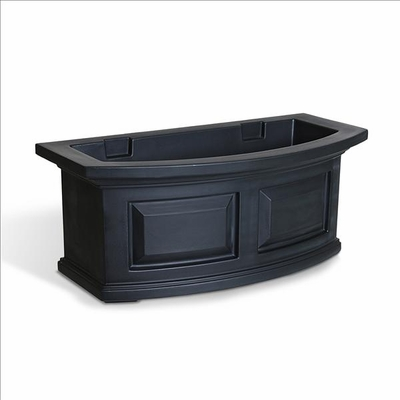 Nantucket 2FT Window Flower Box Black