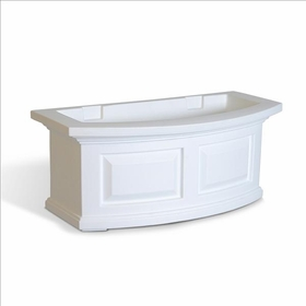 Nantucket 2Ft Wide Window Flower Box - White