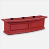 Nantucket 3FT Window Flower Box Red