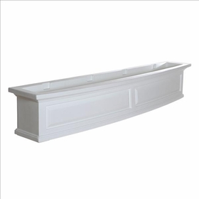Nantucket 5Ft Wide Window Flower Box - White