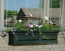 Nantucket 5Ft Wide Window Flower Box - Green