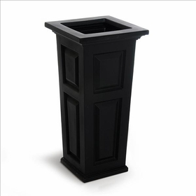 Nantucket Tall Planter - Black