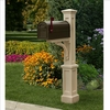 Newport Plus Mailbox Post Clay