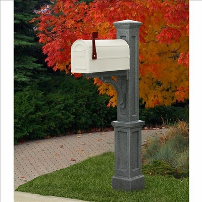 Newport Plus Mailbox Post Granite