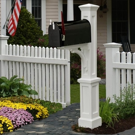 Newport Plus Mailbox Post White