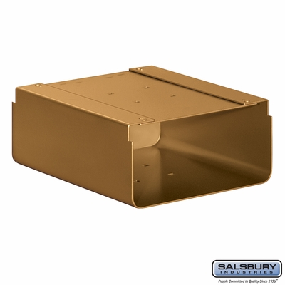 Newspaper Holder For Designer Roadside Mailbox Brass Finish