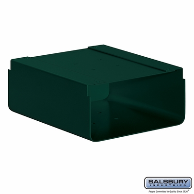 Salsbury 4315G Newspaper Holder For Mail Chest Green