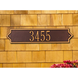 Whitehall Norfolk - Estate Horizontal Wall Plaque - One Line