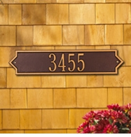 Whitehall Norfolk - Estate Horizontal Wall Plaque - Two Line