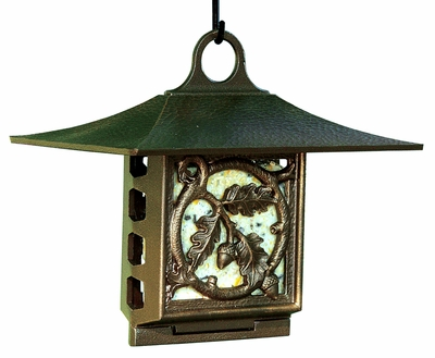 Whitehall Oak Leaf Suet Feeder - Copper Verdi
