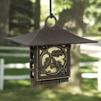Whitehall Oak Leaf Suet Feeder - Oil Rub Bronze