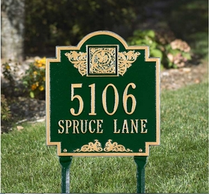 Whitehall Monogram Standard Lawn Address Sign - Two Line
