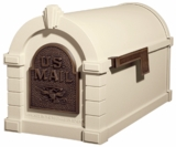 Original Keystone Series Mailbox - Almond with Antique Bronze Eagle