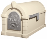 Original Keystone Series Mailbox - Almond with Satin Nickel Eagle