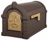 Original Keystone Series Bronze with Polished Brass Accents Mailbox