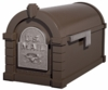 Original Keystone Series Bronze with Satin Nickel Accents Mailbox