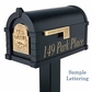 Original Keystone Series Black with Polished Brass Accents Mailbox