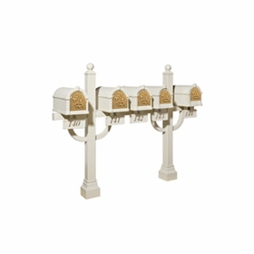 Keystone Series Pentad Deluxe Multi-Mount Mailbox Post - Inner Positioned (Mailboxes not included)