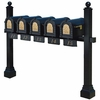 Keystone Eagle Pentad Multi-Mount Mailbox Post (Mailboxes not included)