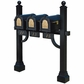 Keystone Eagle Triple Deluxe Multi-Mount Mailbox Post (Mailboxes Not Included)