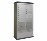 Outdoor Mailbox Kiosk - 16 Tenant Doors with 2 Parcel Lockers - USPS Approved