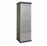 Outdoor Mailbox Kiosk - 2 Doublewide Tenant Doors with 1 Parcel Locker - USPS Approved
