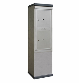 Outdoor Mailbox Kiosk - 2 Parcel Lockers - USPS Approved