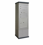 Outdoor Mailbox Kiosk - 4 Doors 1 Parcel Locker - USPS Approved