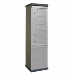 Outdoor Mailbox Kiosk - 4 Doublewide Tenant Doors - USPS Approved