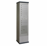 Outdoor Mailbox Kiosk - 9 Tenant Doors with 1 Parcel Locker - USPS Approved
