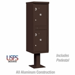 Outdoor Parcel Locker - 2 Compartments - Bronze - USPS Access