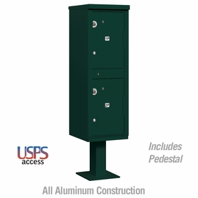 Outdoor Parcel Locker Green 2 Compartments