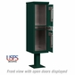 Salsbury 3302GRN-U Outdoor Parcel Locker Green 2 Compartments