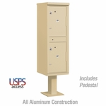 Salsbury 3302SAN-U Outdoor Parcel Locker Sandstone 2 Compartments