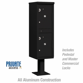 Salsbury 3302BLK-P Outdoor Parcel Locker Sandstone 2 Compartments