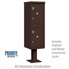 Salsbury 3302BRZ-P Outdoor Parcel Locker Sandstone 2 Compartments
