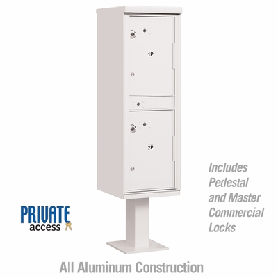 Salsbury 3302WHT-P Outdoor Parcel Locker Sandstone 2 Compartments