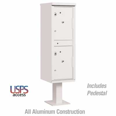 Outdoor Parcel Locker White 2 Compartments