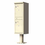 Outdoor Parcel Locker with Pedestal Stand - 2 Parcel Lockers