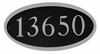 """Oval Cast Aluminum Address Plaque with Flat Letters (19"""" x 10"""")"""