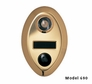 Oval Door Chime Gold Only Finish