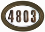 Edgewood Oval Lighted Address Plaque with Cast Aluminum Numbers - Oil Rubbed Bronze Frame