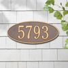 Whitehall Madison Oval - Standard Lawn Address Sign - One Line