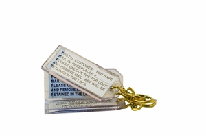Parcel Locker Key Tag Kit - Includes 3 Plastic Key Tag Holders and Labels