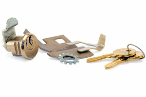 Parcel Locker Lock (Hudson) w/ Cam and 2 Keys - for Tenant Side Of Captive Mechanism - Lock/Key Codes H4001-H5000 - Large