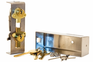 Parcel Locker Lock Kit for Type I- Includes Lock Kit, Cam Kit, and Cover Kit
