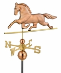 Patchen Horse Weathervane - Polished Copper